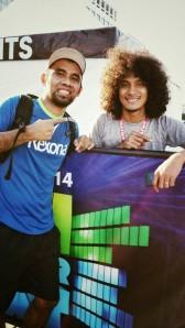 Alvin with Coach Rio